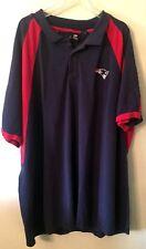 NFL New England Patriots Team Apparel Men's Polo Shirt Cotton Blue & Red