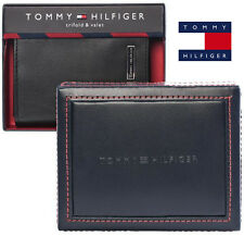 Nwt Tommy Hilfiger Men's 100% Leather Wallet Trifold 31HP11X012 Black Authentic