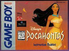 Disney's Pocahontas (Nintendo Game Boy, 1996) Instruction Booklet ONLY