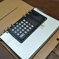 Solar Loose Leaf Binder 8 Digits Calculators Office Spiral Calculator with Ruler