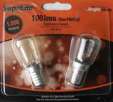 Fridge Appliance Bulb 15W 15 Watt E14 Screw In SES Pack of 2 Bulbs By Supalite