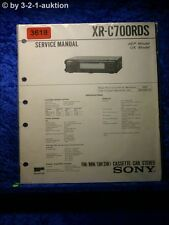 Sony Service Manual XR C700RDS Cassette Car Stereo (#3618)
