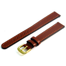 Replacement Watch Strap Band Super Tough Genuine Leather 12mm Tan g D022