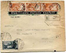 1951 Italia al Lavoro RACCOMANDATA Stabilimento Italiano Confetti Torino FRAGD