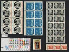 """US EFO """"MINT NH Blocks and stuff with ink spots smears lines"""" GREAT ERRORS"""