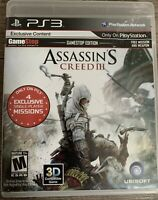 Assassin S Creed Iii Gamestop Edition Playstation 3 Ps3 8888397236