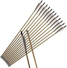 "6//12pcs 33/"" Turkeys Feather Wood Arrow Archery Hunting Recurve Bow Hunting Tips"