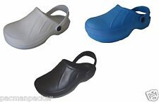 Full Kitchen Clogs Black Blue Chefs Shoes Safety Footwear Garden Rubber Cloggis