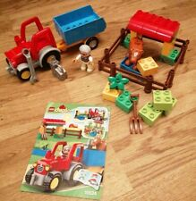 RARE LEGO DUPLO 10524 FARM TRACTOR LOVELY CONDITION WITH INSTRUCTIONS RETIRED