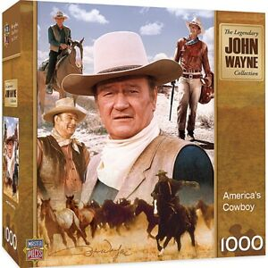 John Wayne America's Cowboy  1000 piece jigsaw puzzle  680mm x 490mm   (mpc)