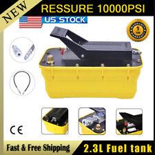 Auto Body Shop23l Oil Tank Air Hydraulic Foot Pedal Pump10000psi High Pressure