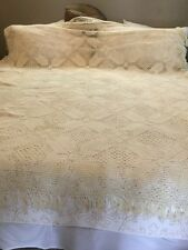 Antique crocheted bed spread