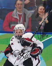 """Hilary Knight & Jenny Potter USA Women's Hockey Autographed 8"""" x 10"""" Photo W/COA"""