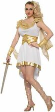 Women's Miss Mt. Olympus Costume Fancy Dress White Gold Ladies Roman Cleopatra