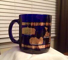WASHINGTON DC ~ United States of America Historic Sites Blue Coffee Cup Mug