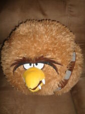 """Angry Birds Star Wars Chewbacca 2012 Large 13"""" Brown Fuzzy Stuffed Plush Pillow"""