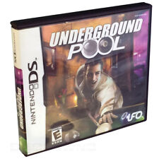 Empty video game case & booklet UNDERGROUND POOL (Nintendo DS, 2007)