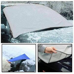 2 x MAGNETIC CAR WINDSCREEN COVER ICE FROST SHIELD SNOW DUST PROTECTOR SUN SHADE