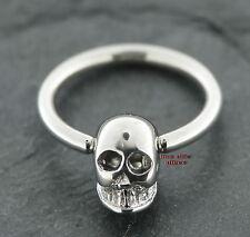 Pecho piercing aro calavera Old School 1,6mm arete labio Intim Skull
