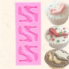 Silicone High-heel Shoes Design Fondant Cake Molds Chocolate Mould Decoration WR