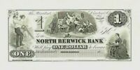 ABNC PROOF OR INTAGLIO PRINT OF $1 NORTH BERWICK BANK MAINE ME  *FREE SHIPPING*