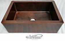 "36"" Ariellina Farmhouse 14 Gauge Copper Kitchen Sink Lifetime Warranty AC1918"
