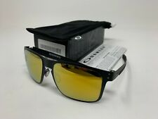 NEW IN BOX Oakley Holbrook Metal Matte Black w/24k Iridium OO4123-1355