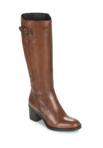 Clarks Mascarpone Ela  Ladies Tan Leather Long  Boots Uk Size 7 D EUR 41