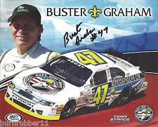 """SIGNED 2014 BUSTER GRAHAM """"ROPE SOAP N DOPE"""" #47 NON NASCAR ARCA SERIES POSTCARD"""