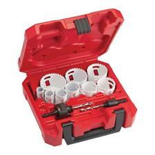 Hole Saw Kit Milwaukee Dozer Set General Electrician Plumbers Mechanics Bi Metal