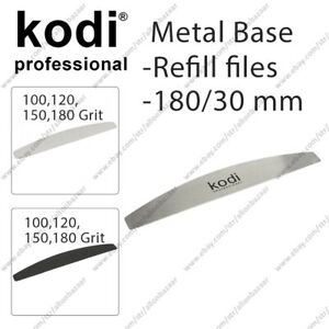 New Kodi Metal base for manicure files of removable files 100 120 150 180 Grit