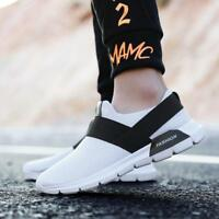 Men's Sneakers Flat Slip On Breathable Trainers Running Sport Shoes Athletic M64