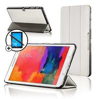 Leather White Smart Case for Samsung Galaxy Tab PRO 10.1 + Screen Prot & Stylus