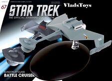Eaglemoss Diecast Star Trek Klingon Empire D7 class Battlecruiser #67 w/Magazine
