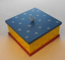 Painted Wooden childs Jewellery Trinket Box - Buy 2 Get 1 Free - (057)