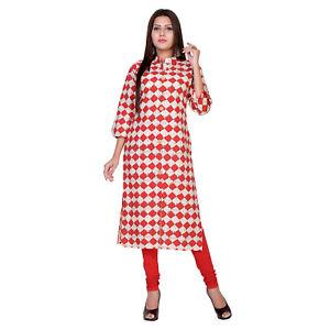 M/L/XL/XL Women Ethnic Indian Bollywood Designer Cotton Tunic Women's Kurti