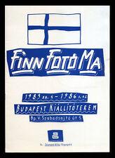 "1985 Hungarian Exhibition Catalog ""Finn Foto Ma"" Budapest Galeria, 12 pgs"