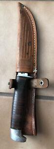 Vintage Case XX USA 316-5 Fixed Blade Hunting Knife Original Leather Sheath