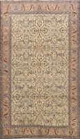 Antique Anatolian Vegetable Dye Turkish Oriental Area Rug Wool Hand-knotted 7x10