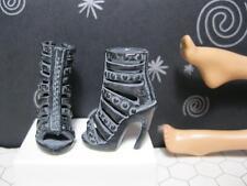 Barbie Doll Basics Black Label Model Muse STONEWASHED PEEP TOE Dress Sandal Shoe
