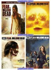 Fear The Walking Dead Complete Series Seasons 1 2 3 & 4 DVD New Sealed Set 1-4