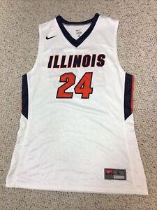 New Nike Illinois  Basketball Jersey #24- Men's Large