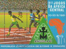 Sao Tome e Principe Nr. Bl. 78 (743) Zentralafrikanische Sportspiele in Angola