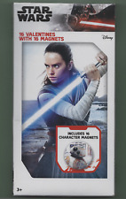 PRICE DROP- Star Wars 16 Valentines Cards w/ 16 Character Magnets-New Sealed Box
