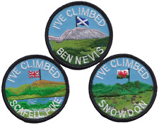 The Three Peaks Challenge Snowdon Ben Nevis Scafell Pike Embroidered Patch Badge