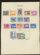 Singapore 1955 values to $2 Mint on album page
