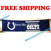 Indianapolis Colts Banner Flag 2x8 ft 2020 NFL Fan Club Wall Home Decor NEW