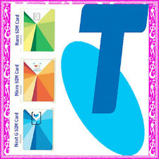 Telstra ◉10 x $10 Credit Prepaid SIM CARD◉Calls Texts Net ◉Regular Micro Nano◉