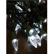 LED Lichterkette Partylichter 50 Lampen klar Tropfenform Weihnachtsbeleuchtung