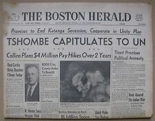 January 16, 1963 Boston Herald Newspaper - Sportsmen's Show; Ted Williams, etc.